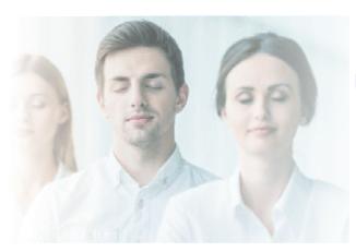 meditation - trio effet flou